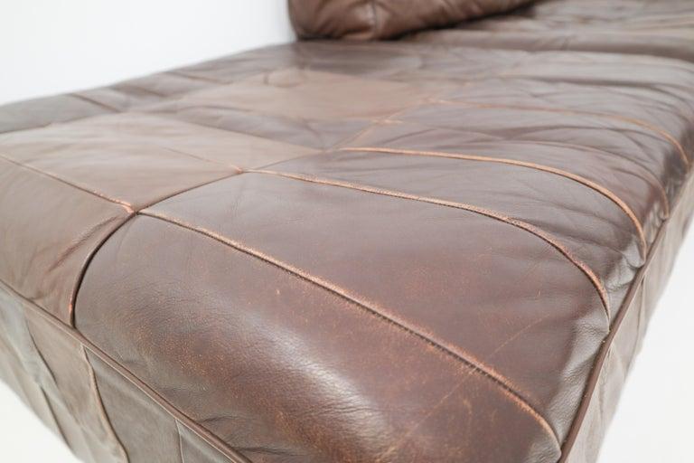 DS88 Modular Brown-Cognac Leather Patchwork Sofa for De Sede, Switzerland For Sale 3