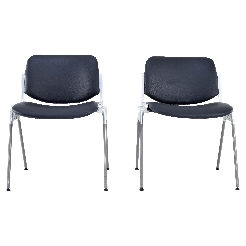 DSC 106 Italian Modern Stackable Chairs by Giancarlo Piretti for Castelli