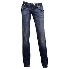 DSquared Blue Denim Jeans W/ Embroidery NWT Sz 40