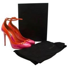 DSquared Pink and Orange Patent Leather Platform Pumps 40