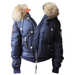 Dsquared Raccoon Fur-Trimmed Down Jacket