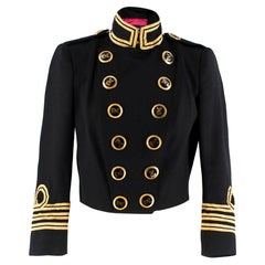 Dsquared2 black & gold cropped military jacket SIZE XS