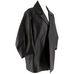 DSquared2 Black Leather Jacket/Short Coat M/44IT