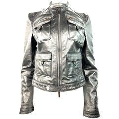 Dsquared2 Black Lether Jacket Size 44