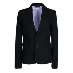 Dsquared2 Black Wool Contrast Lined Tailored Blazer M
