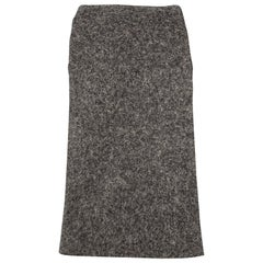 DSQUARED2 Charcoal Wool Square Cut Tie