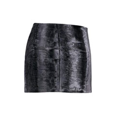 Dsquared2 Grey Astrakhan Effect Velvet Mini Skirt S