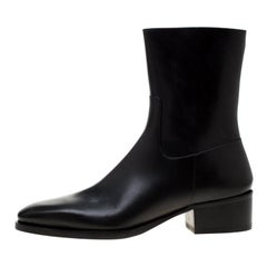 Dsquared2 Icon Black Leather Pierre Ankle Boots Size 44