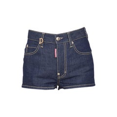 Dsquared2 Indigo Dark Wash Stretch Denim Dalma Hot Pants S
