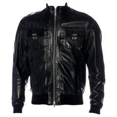 Dsquared² Men's Leather Bomber Jacket