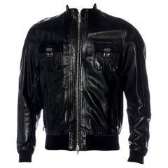 Dsquared² Men's Leather Bomber Jacket