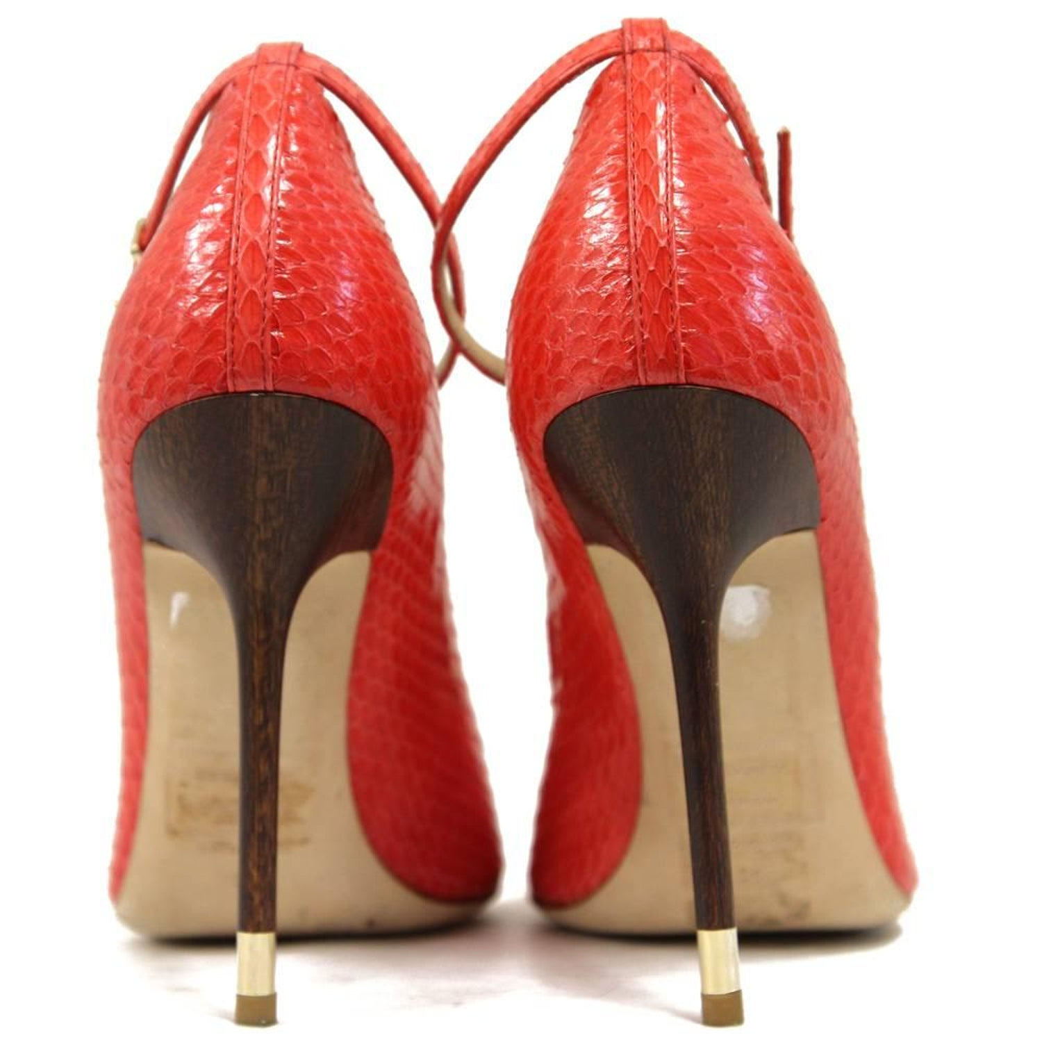 511c5e768f Dsquared2 Red Python Skin Pumps, 2000s at 1stdibs