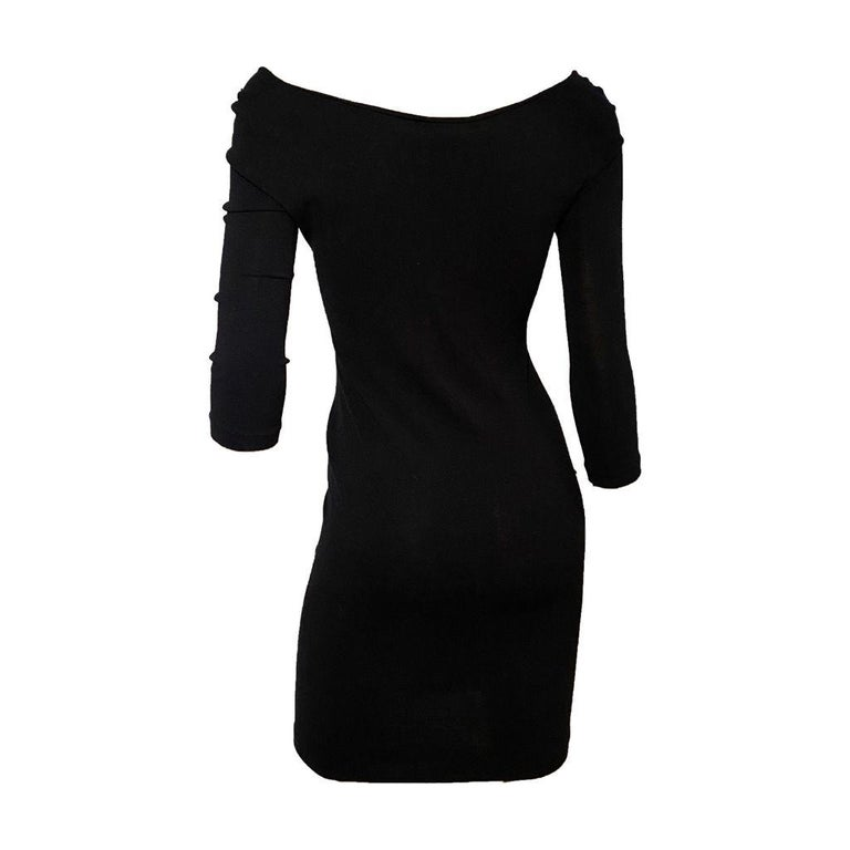 Black Dsquared2 S/S 2005 Runway Cut-Out Dress For Sale