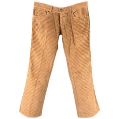 DSQUARED2 Size 30 Tan Corduroy Home Is Where The Heart Is Jean Cut Pants