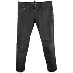 DSQUARED2 Size 32 / IT 48 Black Denim Button Fly Jeans