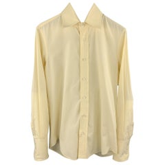 DSQUARED2 Size S Yellow Cotton Long Sleeve Shirt