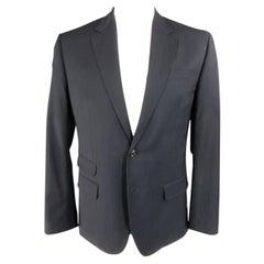 DSQUARED2 US 44 / IT 54 Regular Navy Solid Wool Sport Coat / Jacket