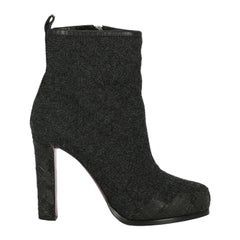 Dsquared2 Woman Ankle boots Anthracite Fabric IT 37