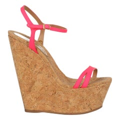 Dsquared2 Woman Wedges Beige Leather IT 38