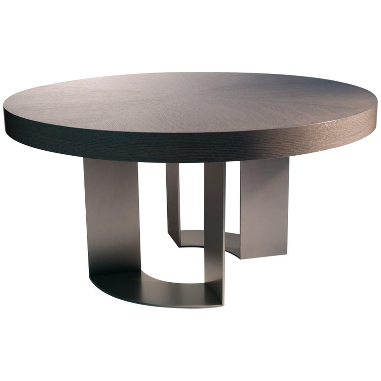 DT-86 Round Dining Table with by Antoine Proulx For Sale