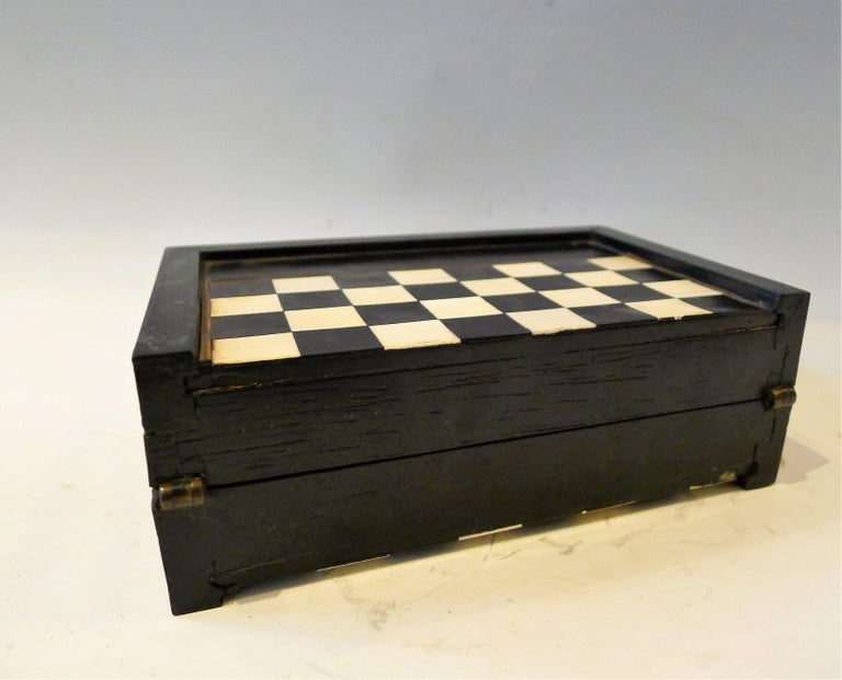 Dual Backgamon and Chess Travel Set, 19th Century For Sale 2