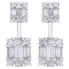 Dual Diamond Cube 18 Karat MMNY Ear Jackets