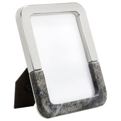 Dual Frame in Carnico Marble and Polished Metal by ANNA new york