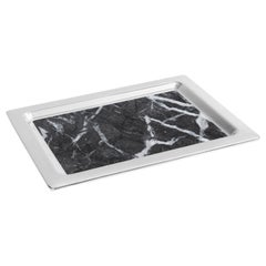 Dual Tray in Carnico Marble and Polished Metal by ANNA new york