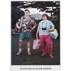 Duane Hanson, Signed Poster, Sculptures by Duane Hanson, 1990