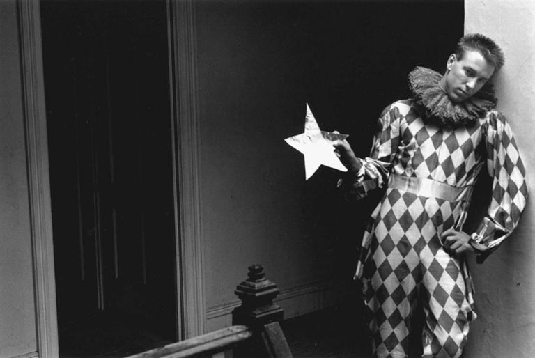 Duane Michals Black and White Photograph - Harlequin