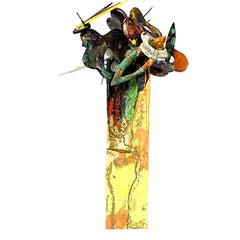 """Abstract Arrangement #14""-  Mixed Media Abstract Sculpture"