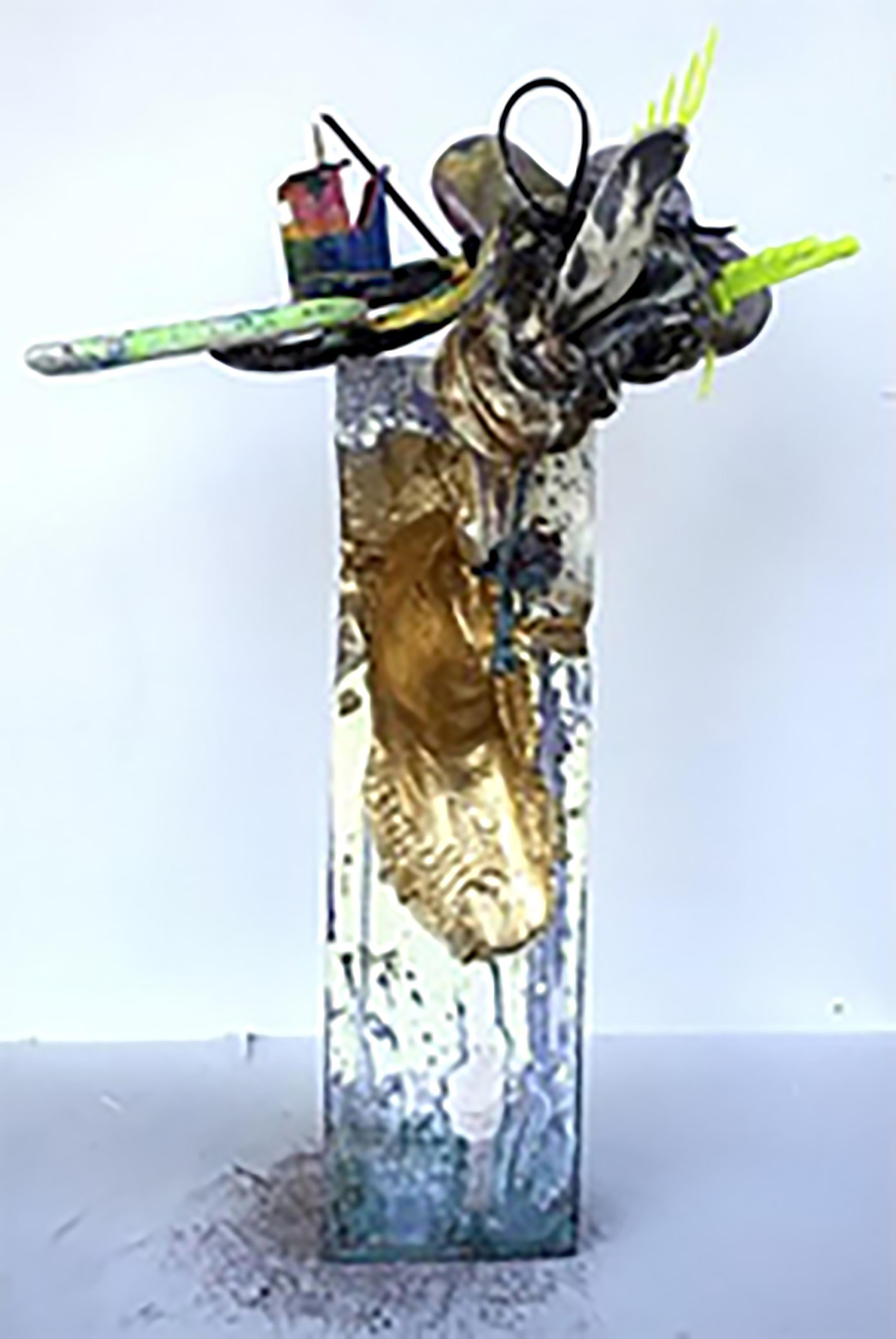 """Abstract Arrangement ""-  Mixed Media Abstract Sculpture"