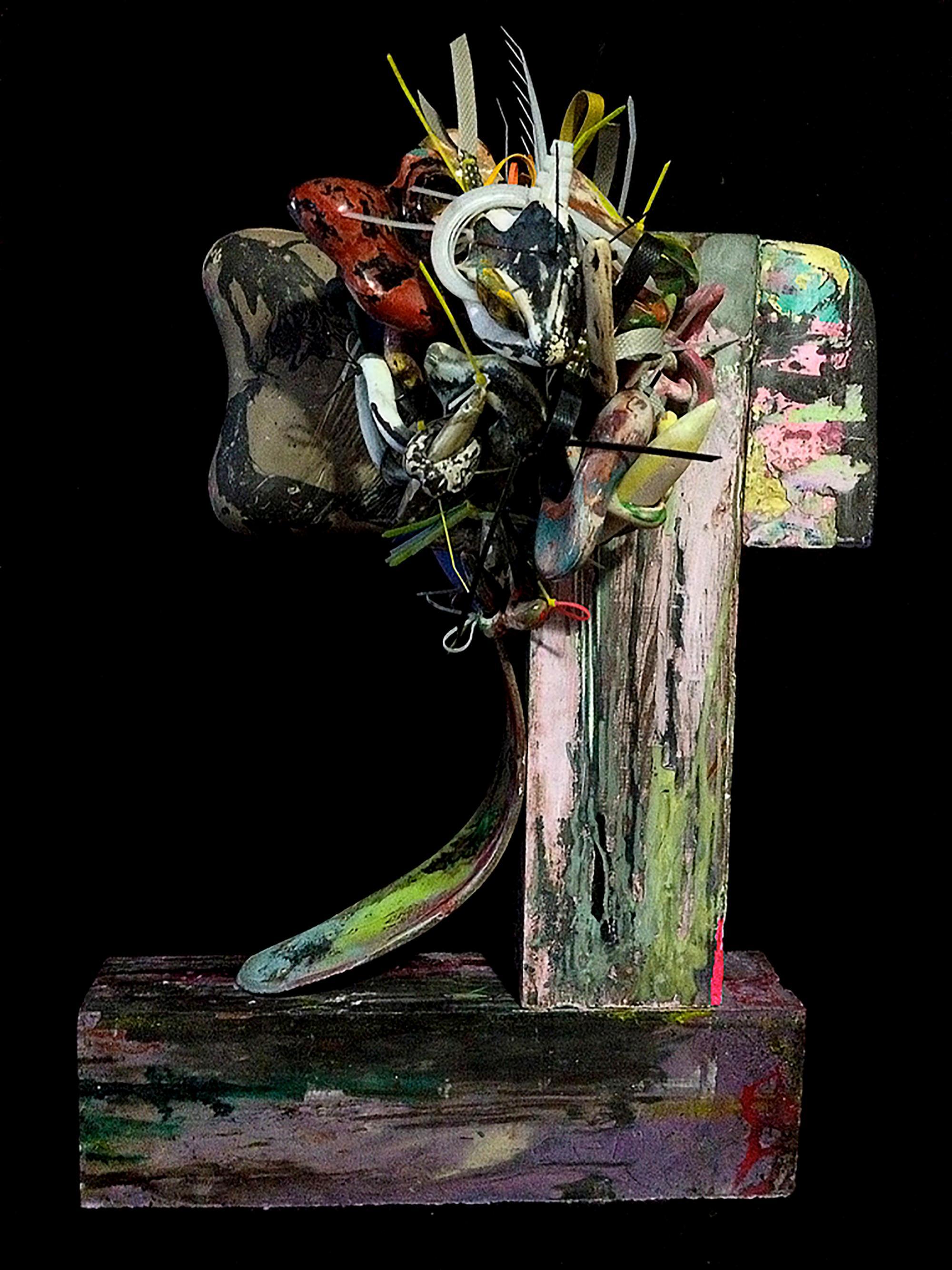 """Monica..."" Mixed Media Abstract Sculpture"