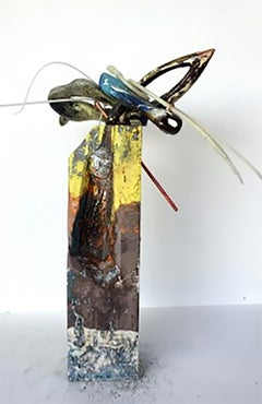 """Untitled Abstract Arrangement""-  Mixed Media Abstract Sculpture"