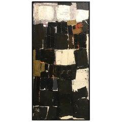 Duayne Hatchett Original Midcentury Mixed-Media Oil Painting Collage #4, 1956
