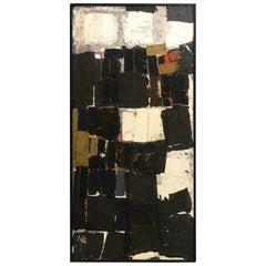 Duayne Hatchett Original Mixed-Media Oil Painting Collage #4 1956