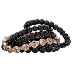 "Düby Leyser ""Tambulli"" Rose Cut Diamond Tennis Bracelet"
