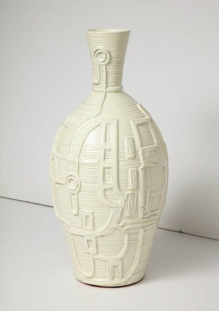 Italian Duca di Camastra Ceramic Bottle For Sale
