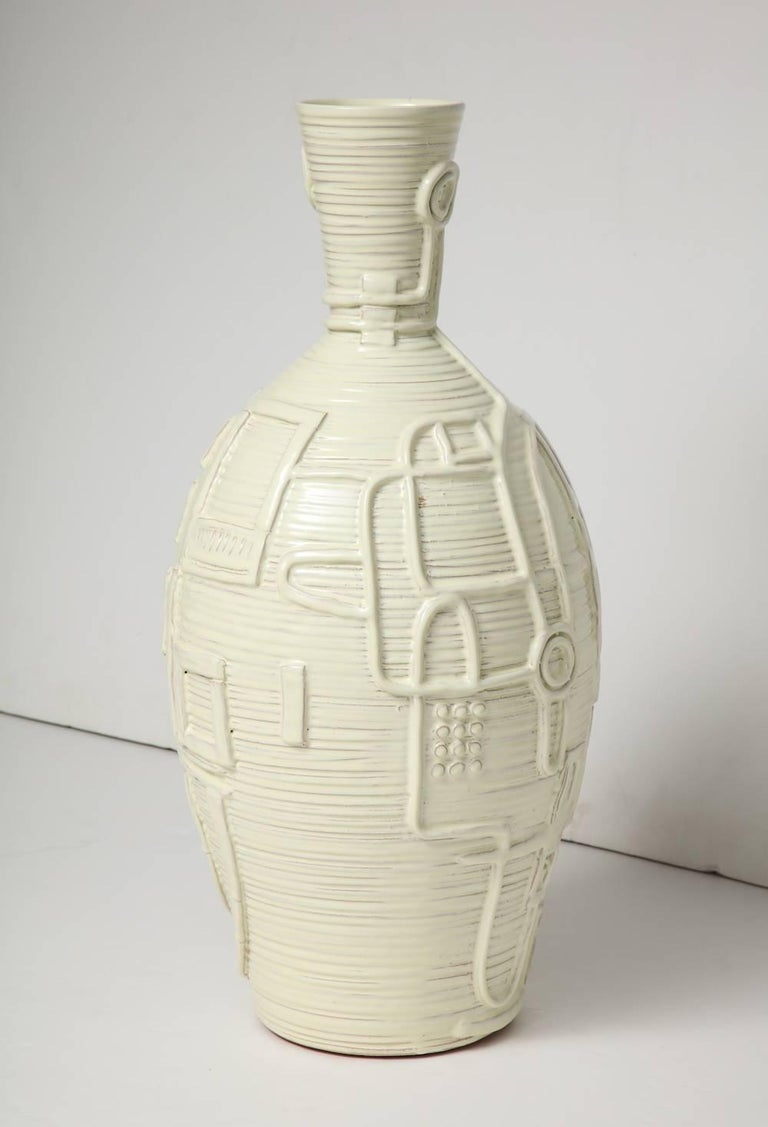 Duca di Camastra Ceramic Bottle In Excellent Condition For Sale In New York, NY