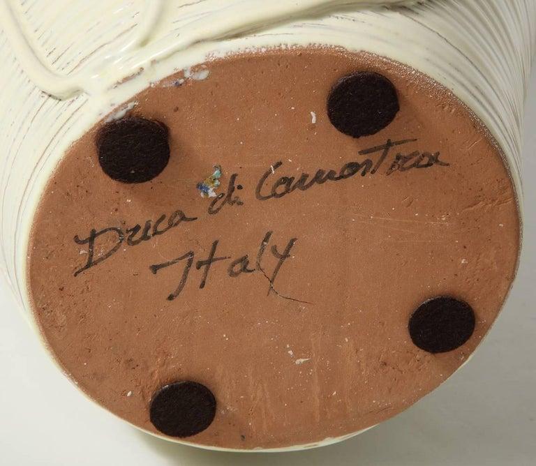 Contemporary Duca di Camastra Ceramic Bottle For Sale