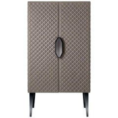 Duccio Tall Leather Cupboard