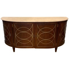 Duchamp Demilune Sideboard with Satillia Marble Top, by Hickory Chair Furniture