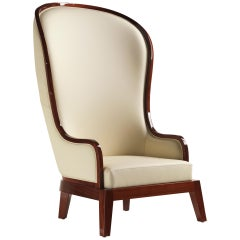 Duchesse Armchair in Shiny Mahogany Finish