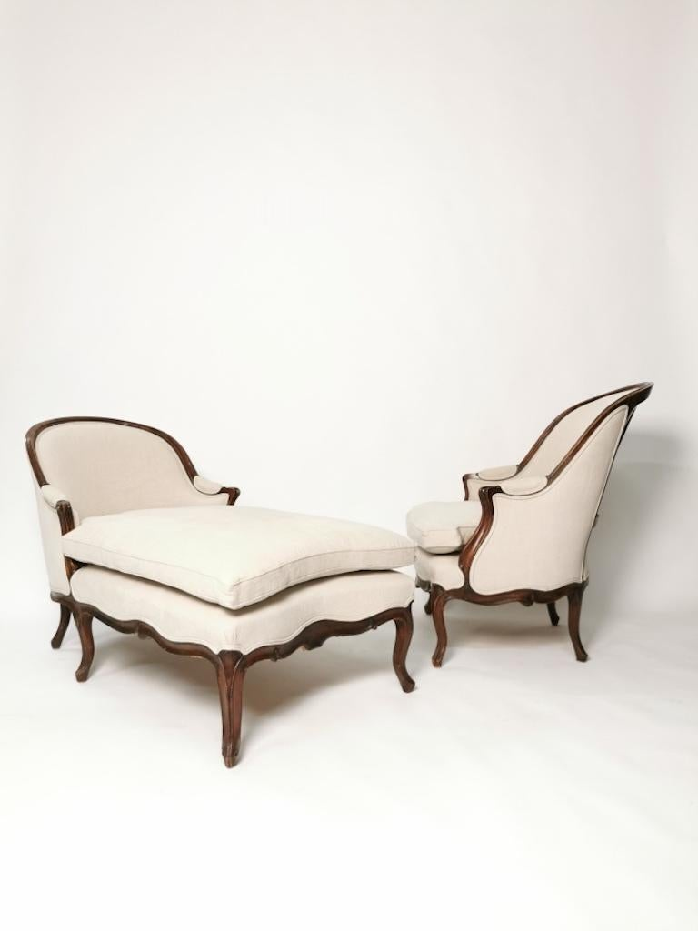 French Duchesse Brisée, Louis XV, France, circa 1760 For Sale