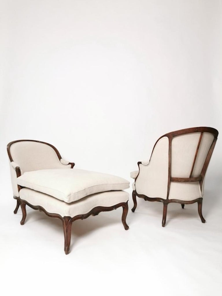 Upholstery Duchesse Brisée, Louis XV, France, circa 1760 For Sale