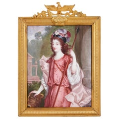 'Duchesse de Richmond' French Limoges Enamel Portrait Plaque