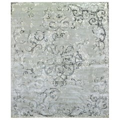 Hand Knotted - silk rug - Duchesse Split Celadon, Edition Bougainville