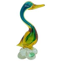Duck Murano Glass Vetri di Murano Italy Vintage Art Glass, 1950s