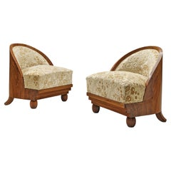 Ducrot Studio Pair of Art Deco Lounge Chairs