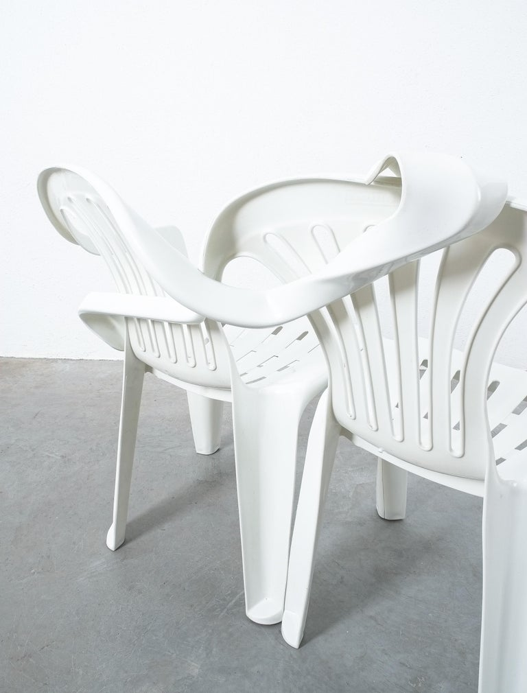 Modern Dudes Plastic Chair Appropriation by Bert Loeschner For Sale